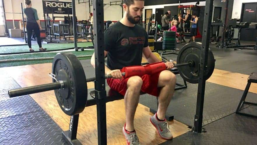 image of seated barbell calf raise