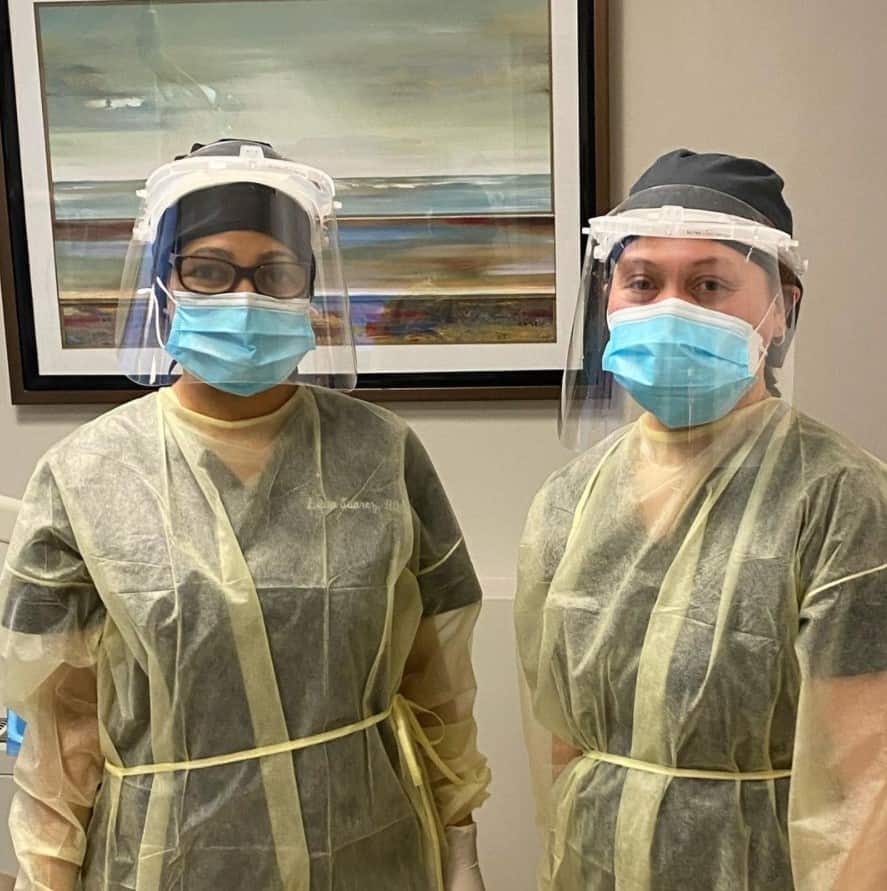 Dentist NYC dental assistants covid protection p01