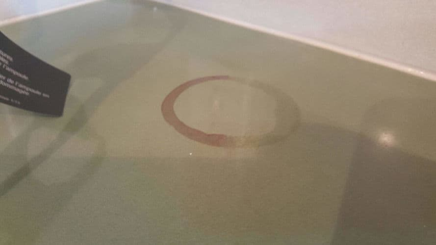 What appears to be a stain on a concrete countertop