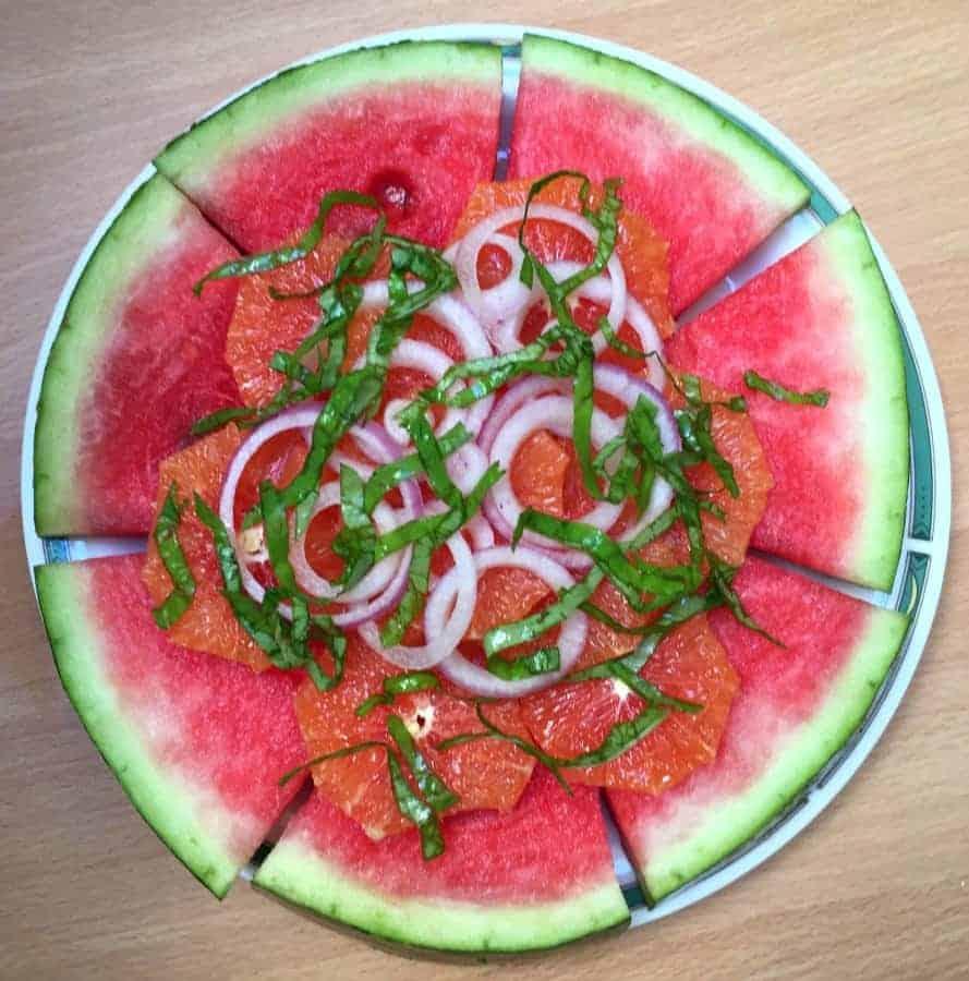 Watermelon Orange Onion Salad