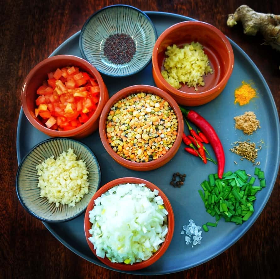 Ingredients Dal Bhat Recipe From Nepal