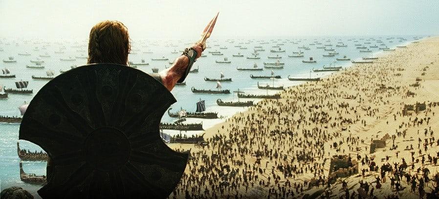 desembarco de la guerra de troya