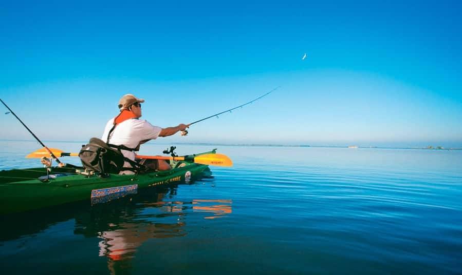 Kayak fishing on the Calusa Blueway