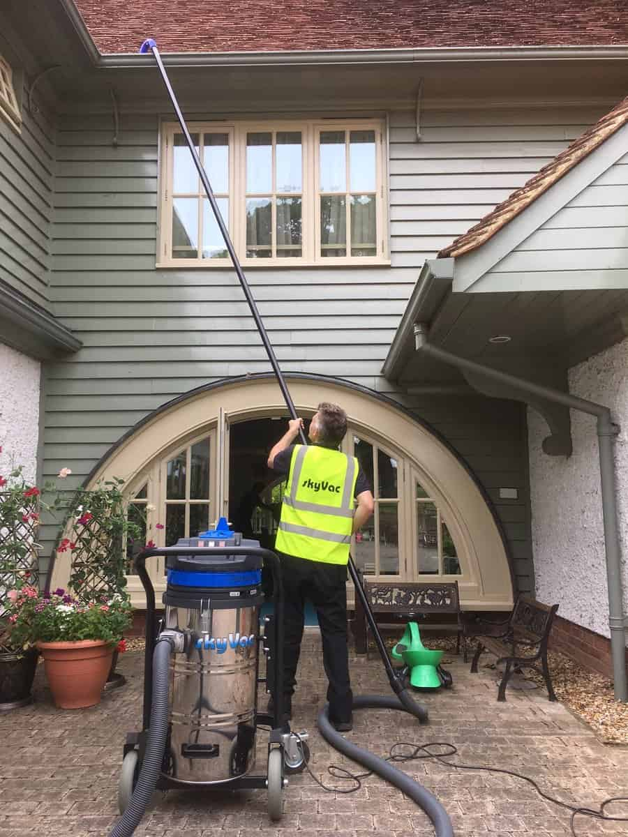 Gutter Cleaning In Cefn Fforest