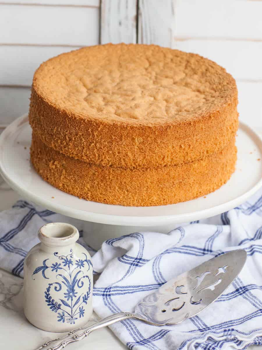 simple vanilla sponge cake recipe with video tutorial