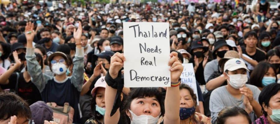 Students in Thailand wage epic protests against the monarchy
