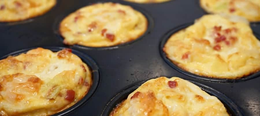 Pancetta and Leek Mini Quiche