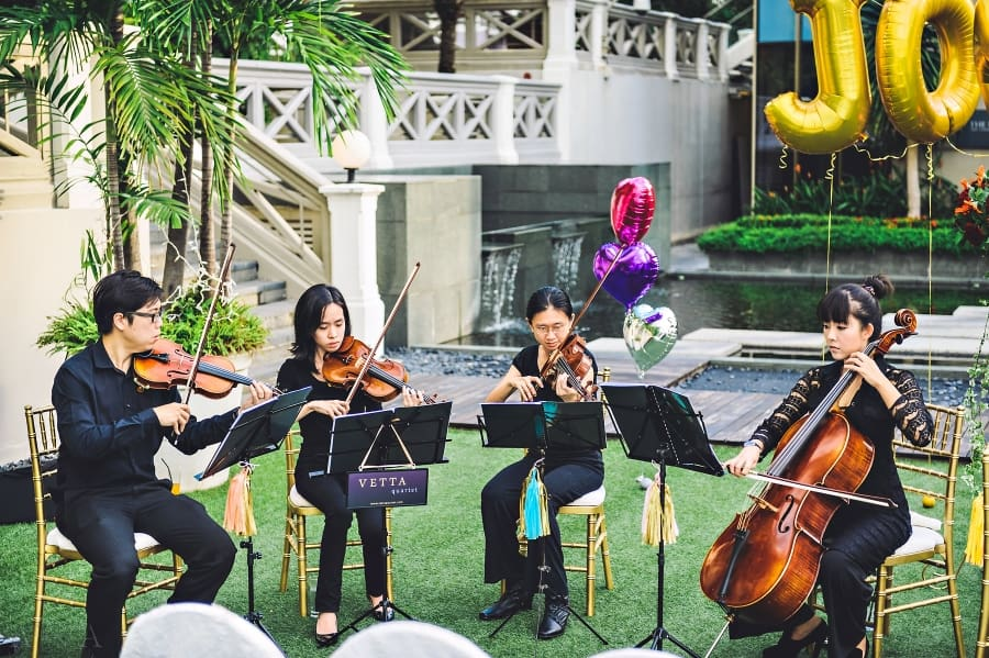 String Quartet Wedding at Hotel Fort Canning