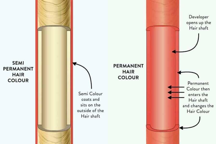 mens hair color how does permanent hair dye work