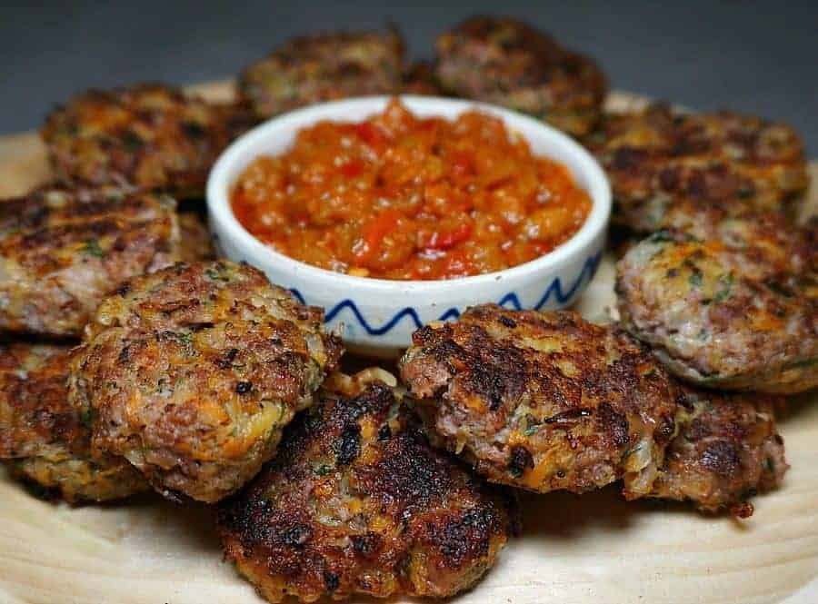 Meatballs with Zacusca Sauce