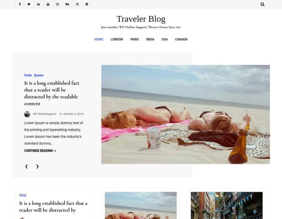 Traveler Blog Lite