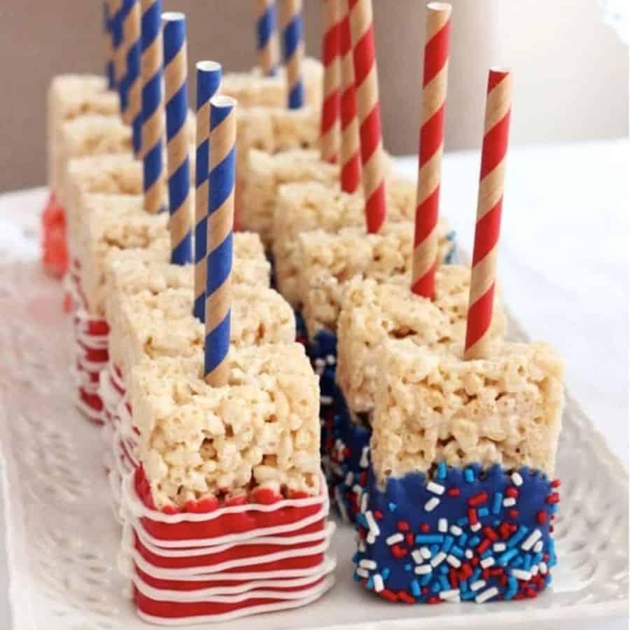 4th fo July american flag rice krispie