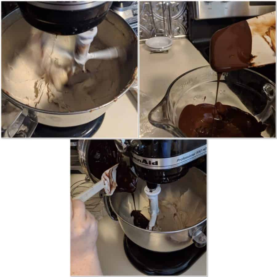 steps to making Chocolate Buttercream frosting collage