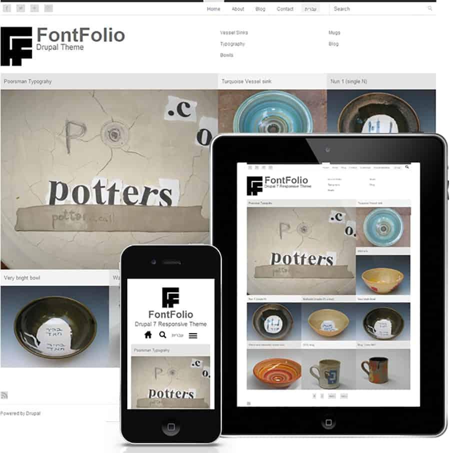fontfolio free drupal theme