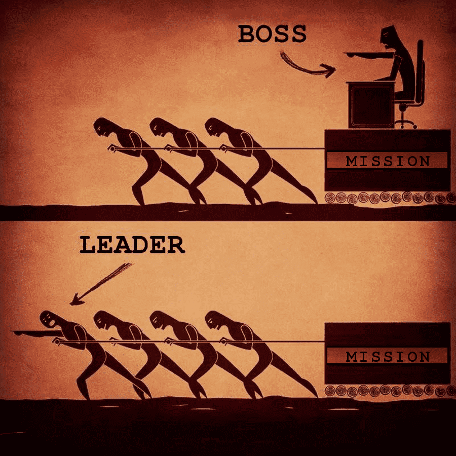 entrepreneurs that succeed are leaders not bosses