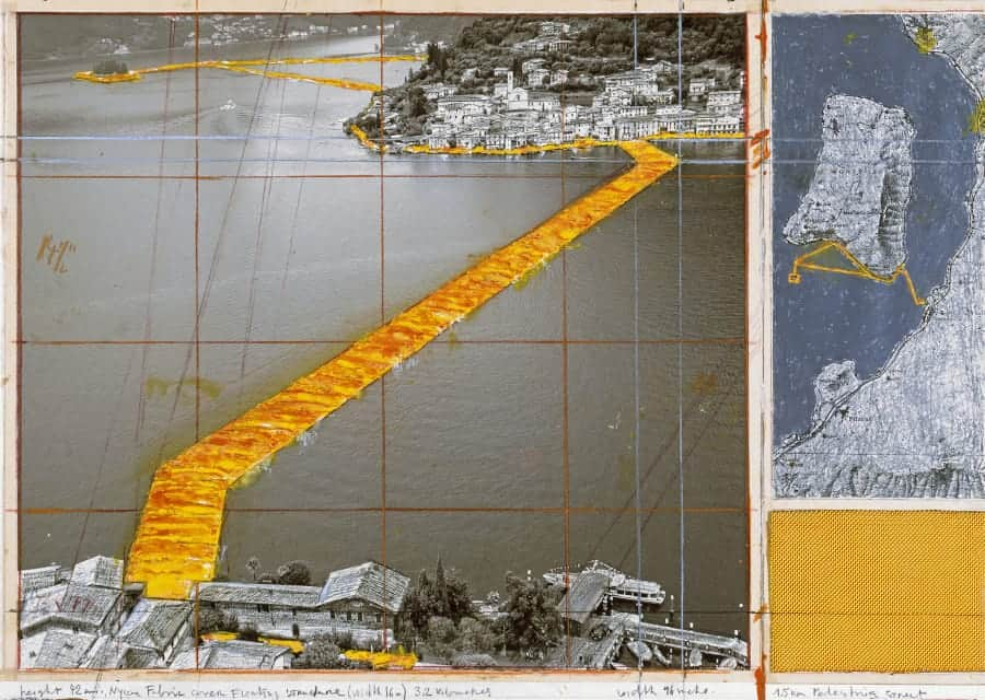 Christo, The Floating Piers (Project for Lake Iseo, Italy), 2014