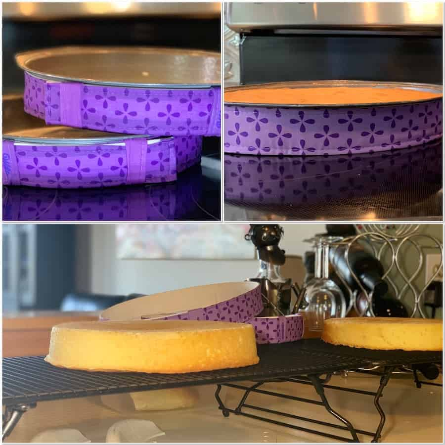 Cake layers using the Bake Even Strips