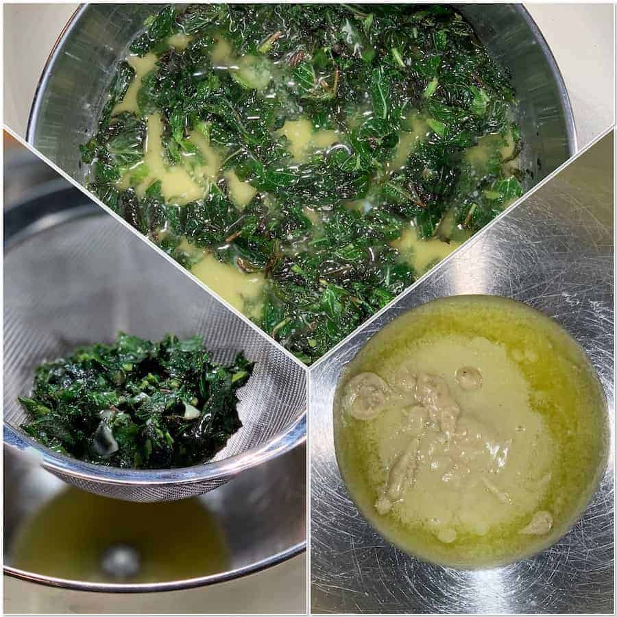 Steeping mint into butter process