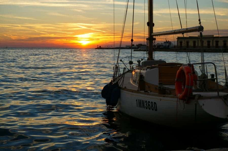 Trieste Italy Sunset