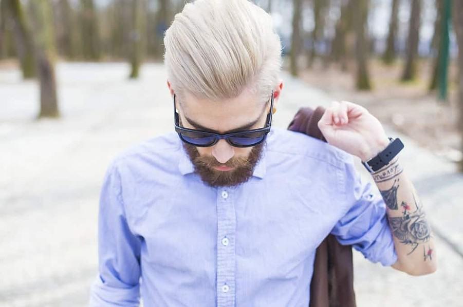 men's hair color dying full head blonde