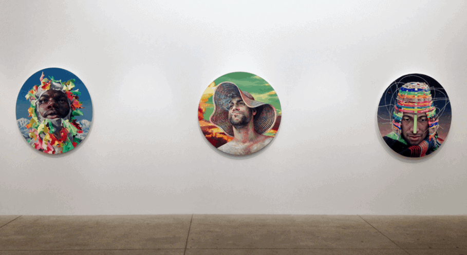Works by Robin F Willaims. Installation view. Image via artist's website.