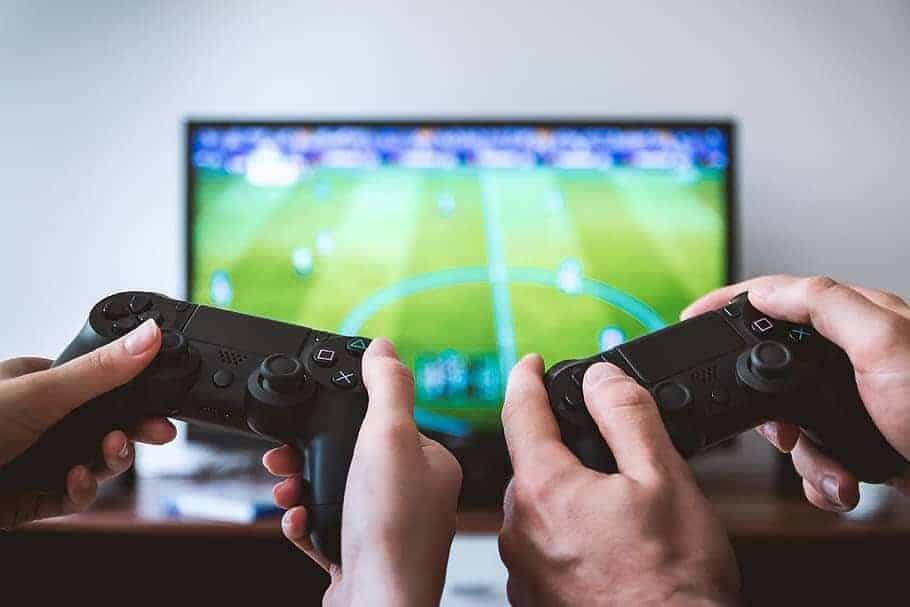 video games play playstation tv screen
