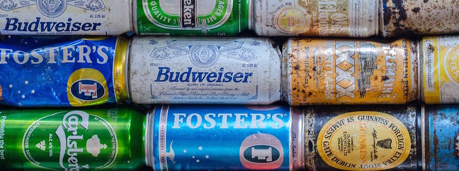 Cans of beer headed for a sustainable makeover