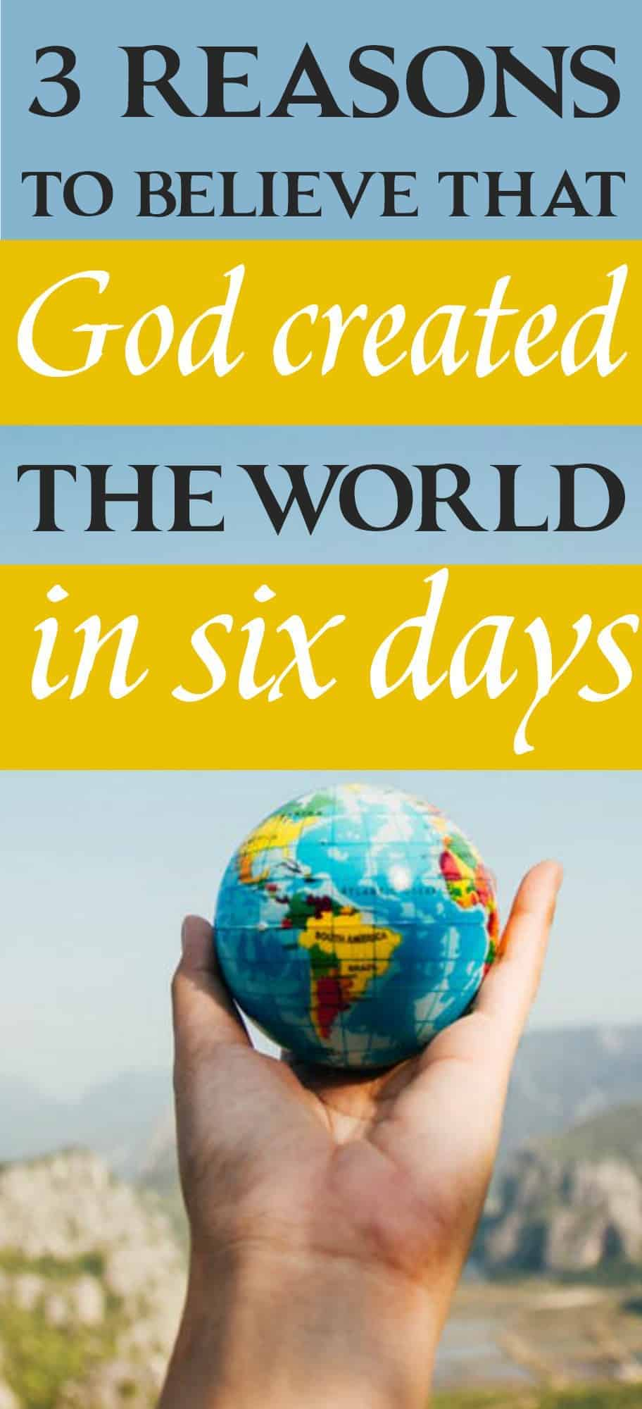 Is it significant that God created the world in six literal days and rested on the seventh day?Why not consider those as seven eras of time? Here are three reasons to believe that God created the world in six days.