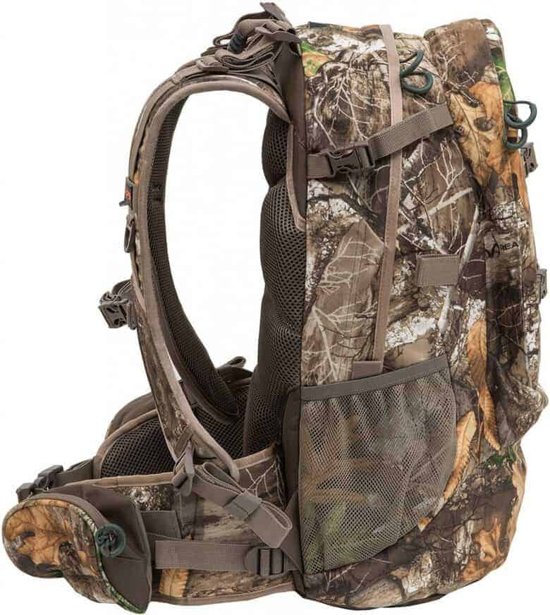 side view of backpack