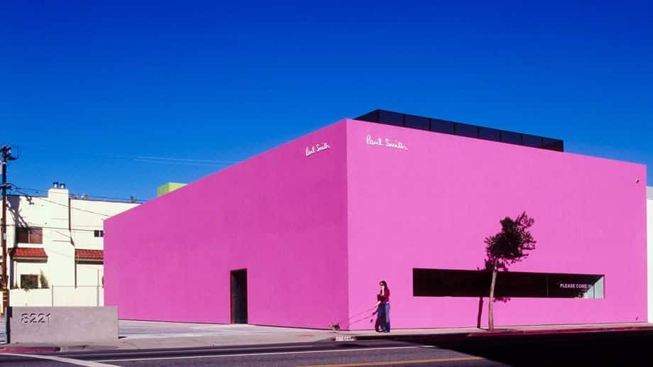 Paul Smith's pink store on Melrose Avenue, Los Angeles.
