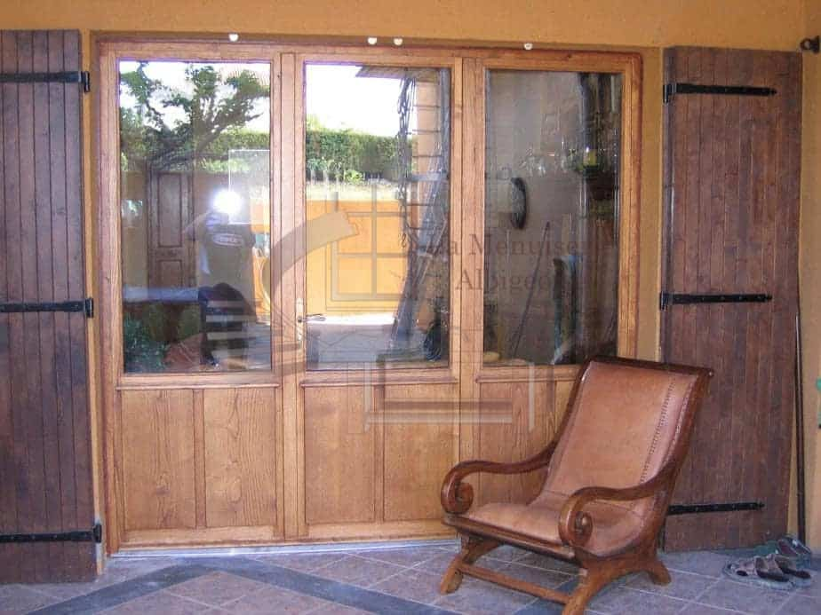 Porte fenêtre isolante bois