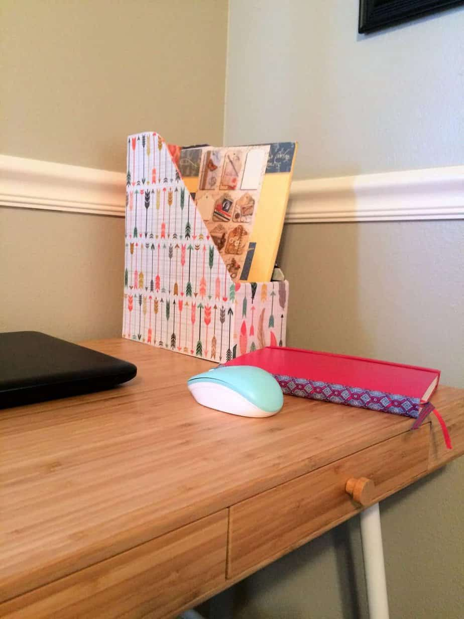 DIY Magazine Holder Makeover