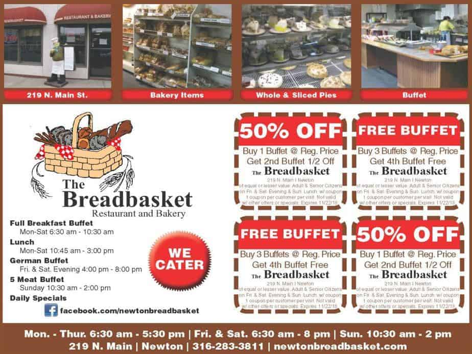 Breadbasket coupon in Newton Buy Local Plus