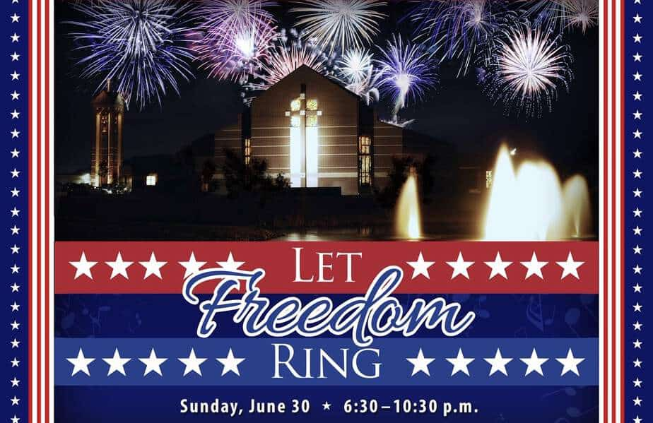 Let Freedom Ring 4th of July Independence Day celebration at Holy Cross Lutheran Church