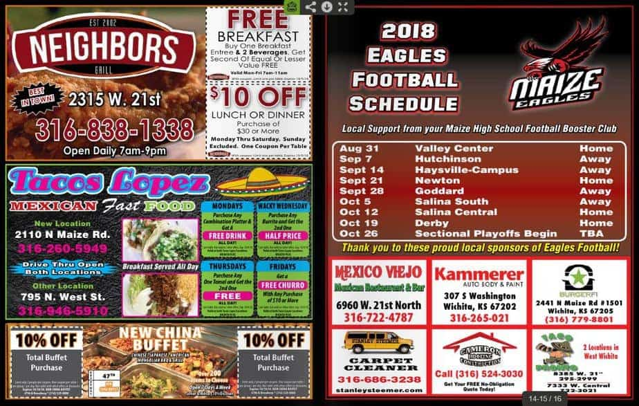 wichita plus fall coupon book