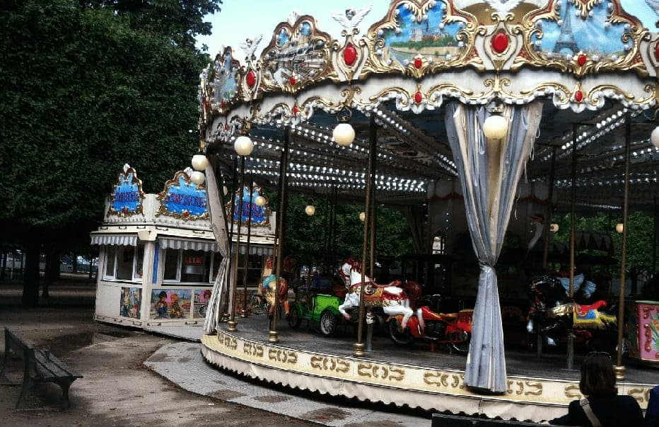 The carousel at the tuilleries garden