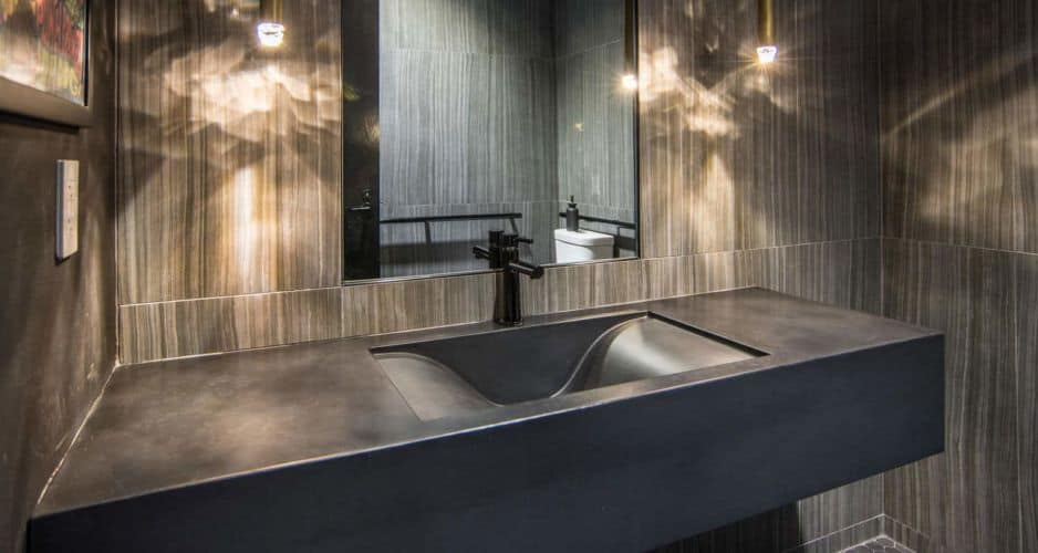 Black Wave Concrete Sink
