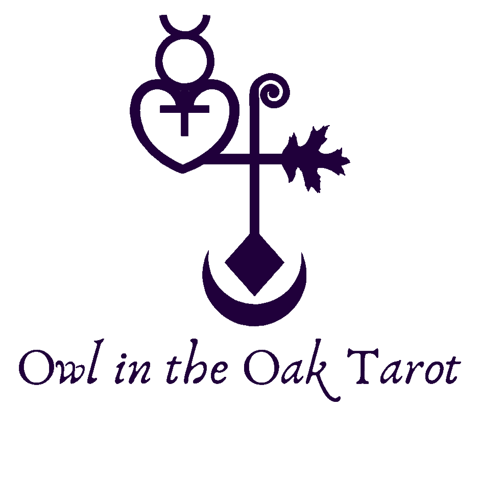 logo for owl in the oak tarot