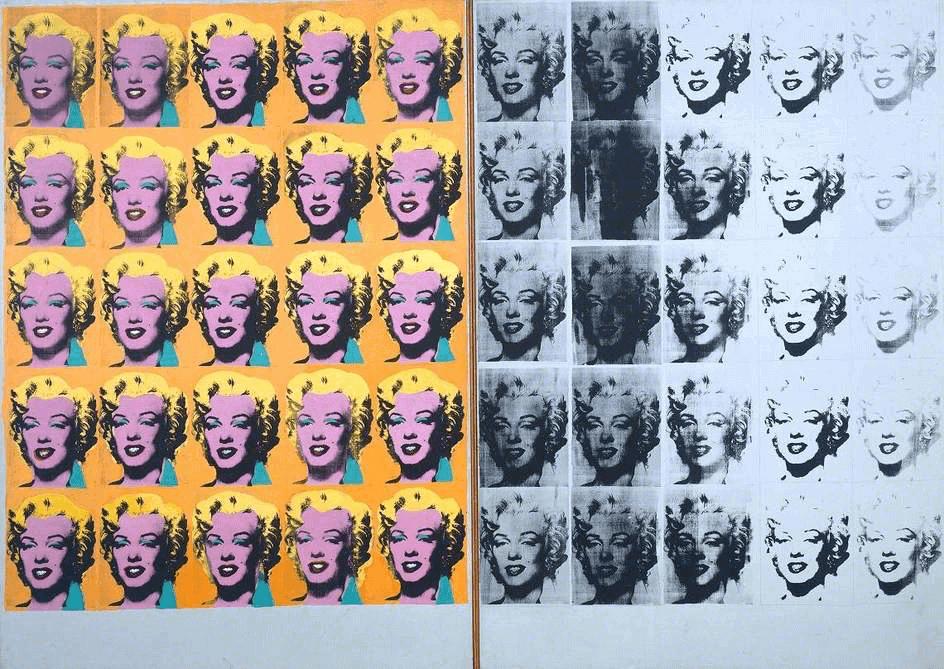 Andy Warhol Pop Art. Marilyn Diptych, 1962.