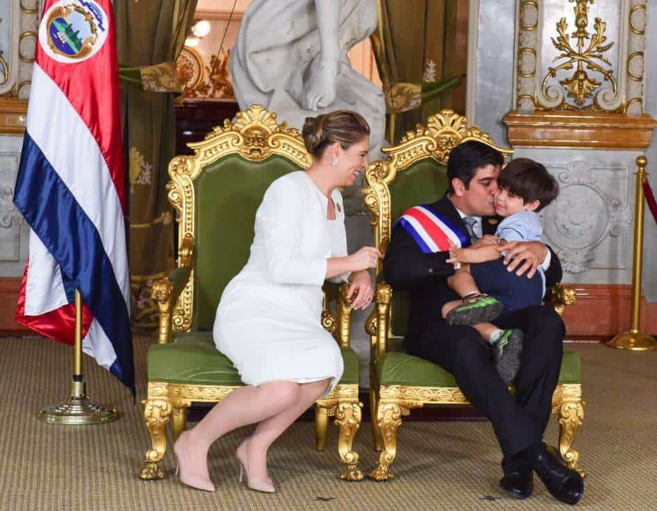 Costa Rica President and Family