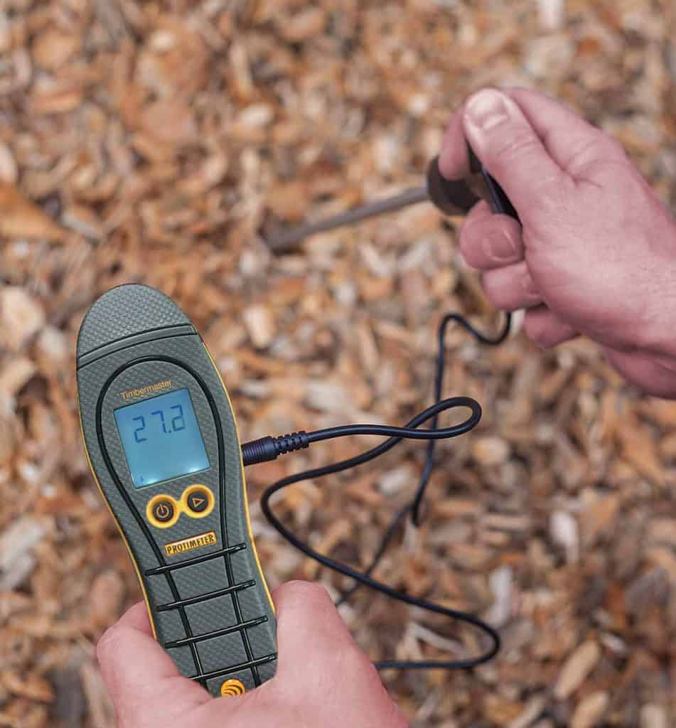 Protimeter Timbermaster woodchip moisture meter and probe
