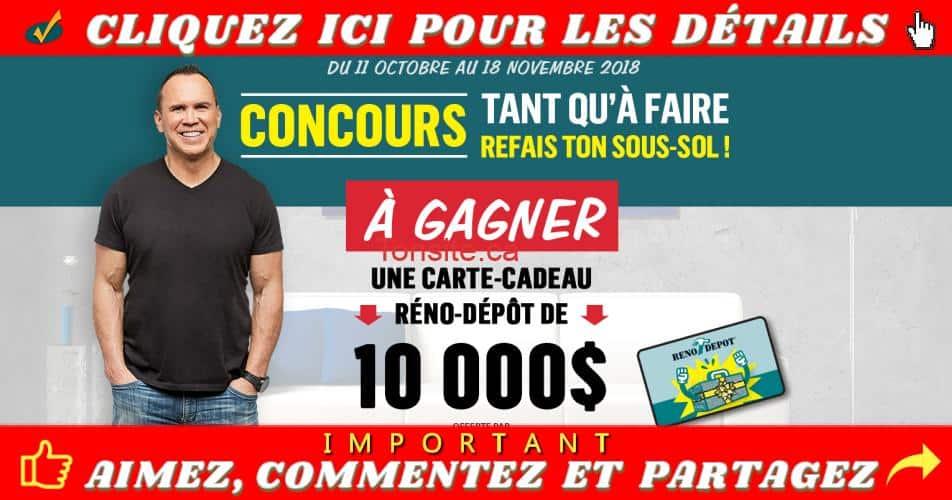 reno depot concours4 - Participez et gagnez une carte-cadeau Réno Dépôt de 10,000$