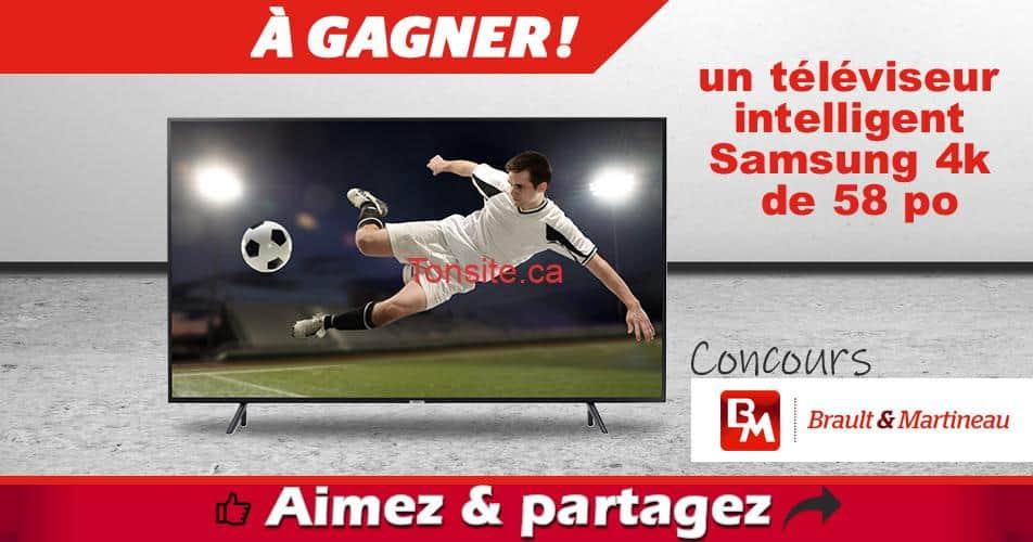 brault martineau concours21 - Concours Brault & Martineau: Gagnez un téléviseur intelligent Samsung 4K de 58 po (valeur de 873,99$)
