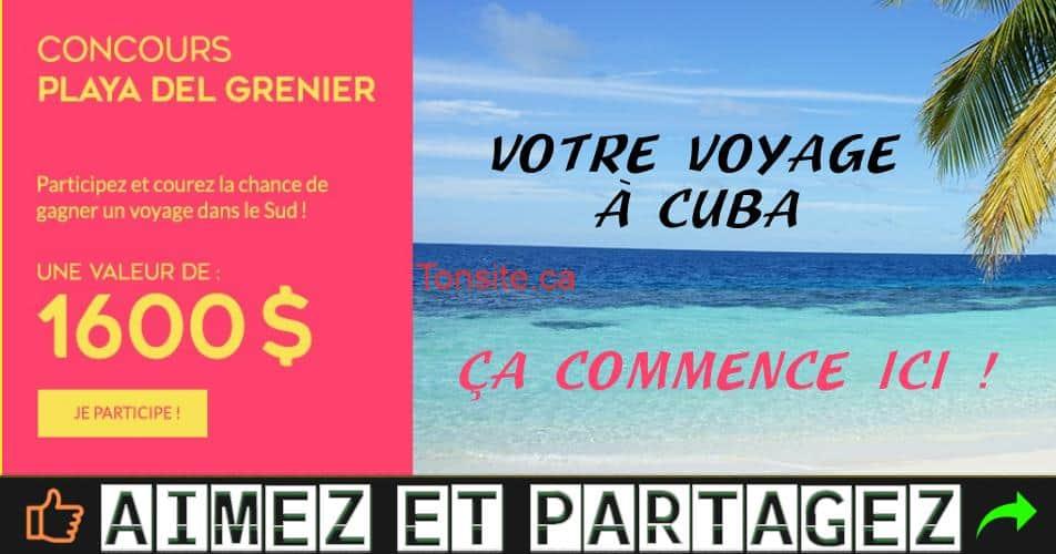 grenier concours2 - Concours Le Grenier: Gagnez une semaine en tout inclus pour 2 personnes à Cuba