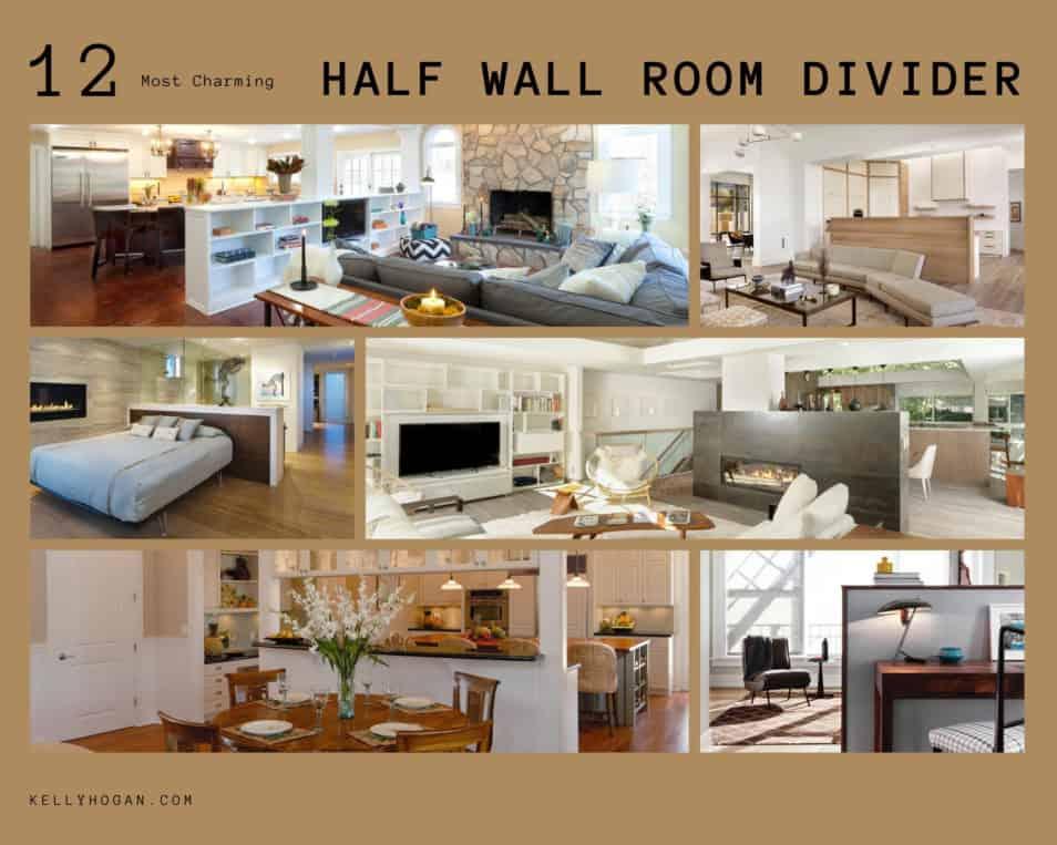 12 Most Charming Half Wall Room Divider Ideas