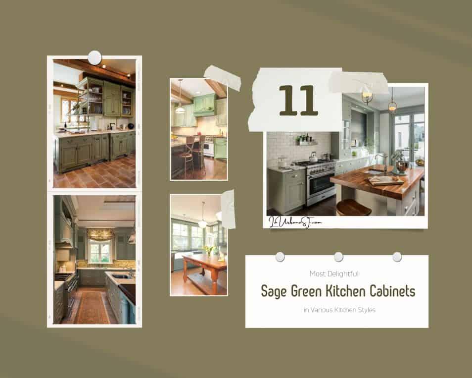 11 Most Delightful Sage Green Kitchen Cabinets