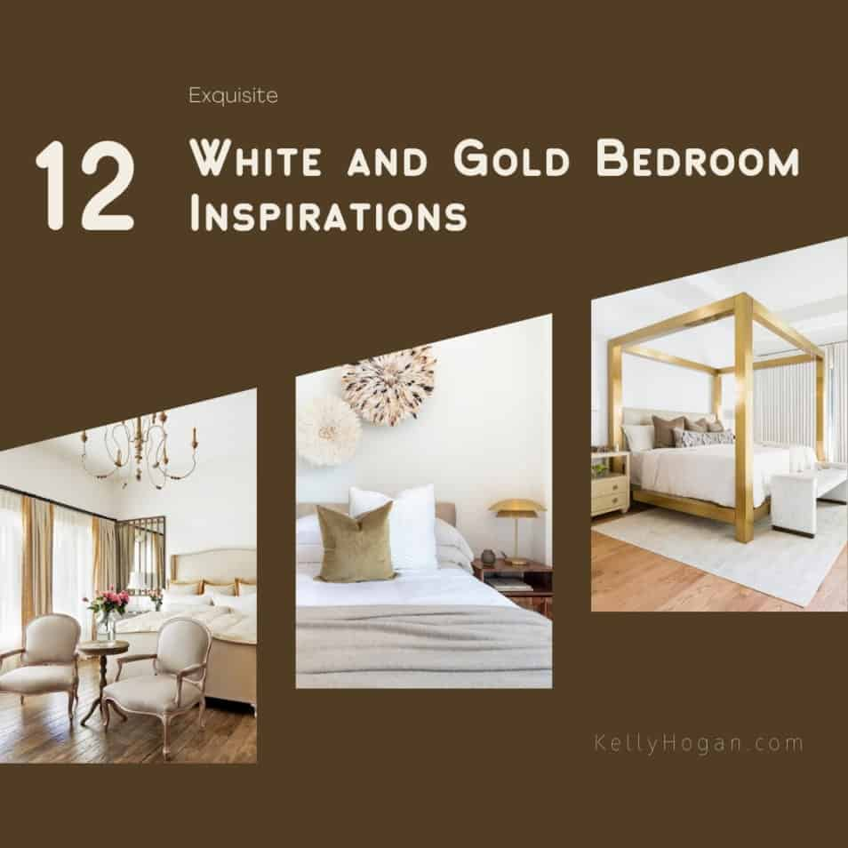 12 Exquisite White And Gold Bedroom Inspirations