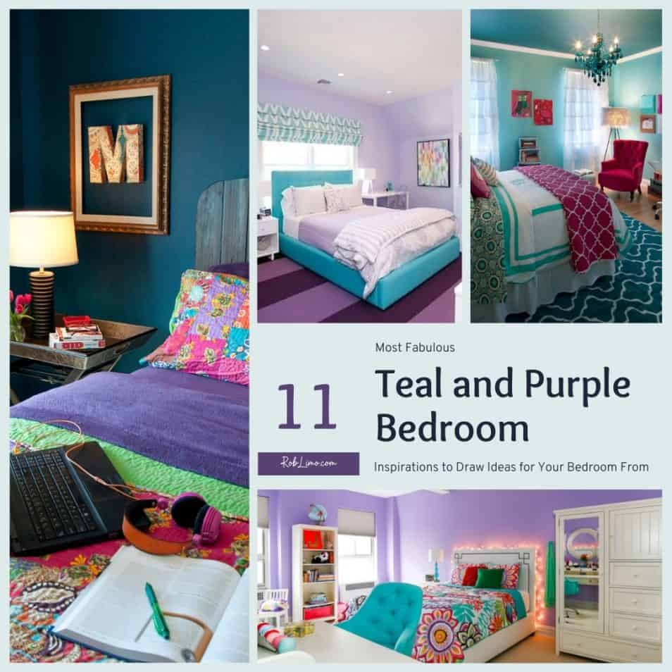 11 Most Fabulous Teal And Purple Bedroom Inspirations