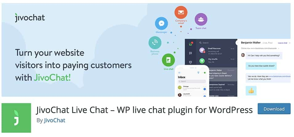 JivoChat Live Chat – WP live chat plugin for WordPress