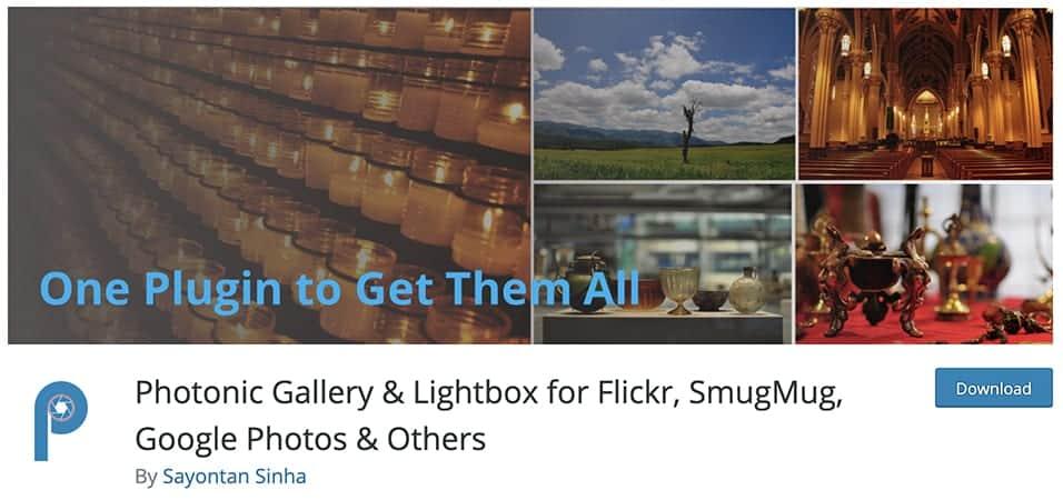 Photonic Gallery & Lightbox for Flickr, SmugMug, Google Photos & Others